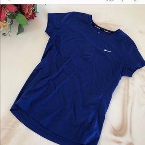 Nike running blue top